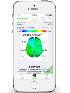 Opti Brain Map on iPhone